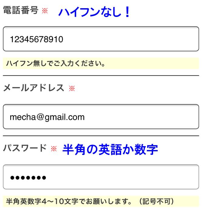 めっちゃたっぷりフルーツ青汁の申し込み。電話番号とメールアドレス